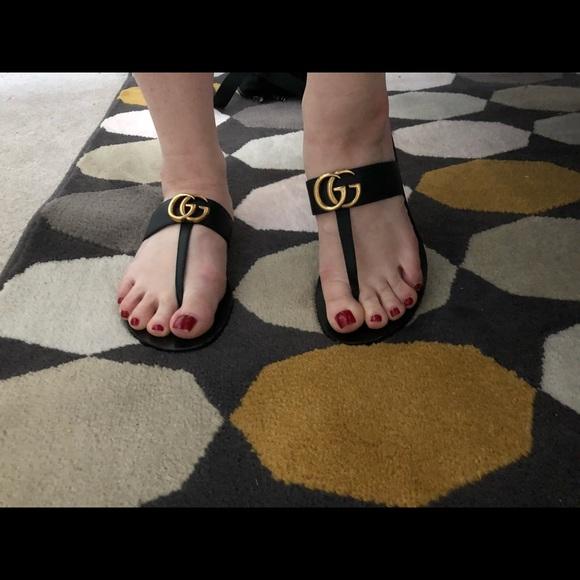 71bfc4660 Gucci Shoes - Gucci Marmont T strap sandal